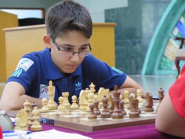 تحصن آرین غلامی شطرنج باز ۱۴ ساله و مازندرانی تیم ملی + تصاویر
