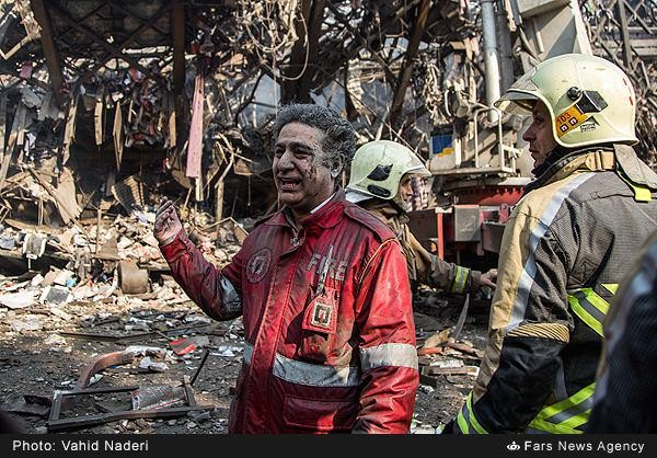 پیام تسلیت مجموعه آتشنشانی کیاسر برای شهدای آتشنشان حادثه پلاسکو
