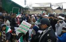 حماسهی  مردم بخش چهاردانگه و شهر کیاسر در یک روز سرد و برفی