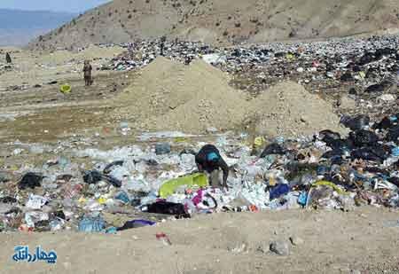 گلایه مردم روستاهای اطراف چهاردانگه در استان سمنان در مورد زباله