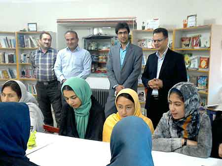 حضور سرپرست اداره کل کانون پرورش فکری مازندران در مرکز کیاسر