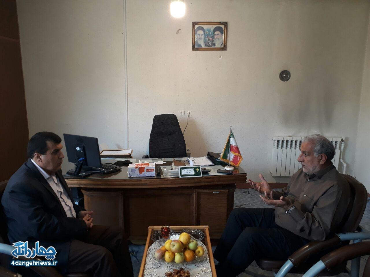 بهمن عالیشاه رییس اداره برق و رییس ستاد دکتر روحانی در بخش چهاردانگه