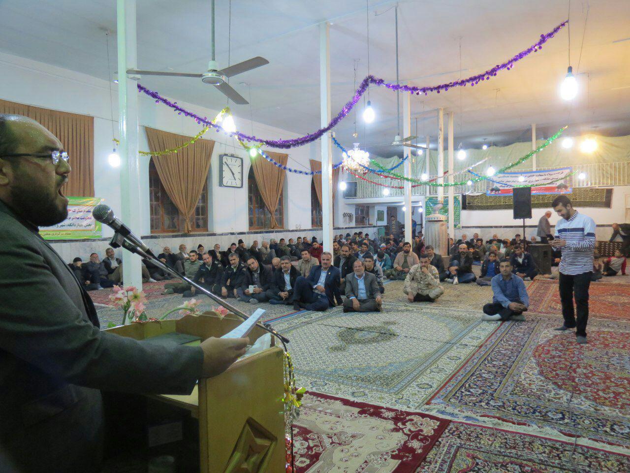 جشن میلاد حضرت رسول اکرم و امام صادق(ع) در شهر کیاسر برگزار شد