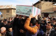 مراسم باشکوه وداع شهید گمنام در مدرسه شهید خانگاه چهاردانگه برگزار شد