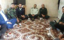 دیدار بخشدار، فرماندهان سپاه  و نیروی انتظامی چهاردانگه با خانواده شهید معصومی