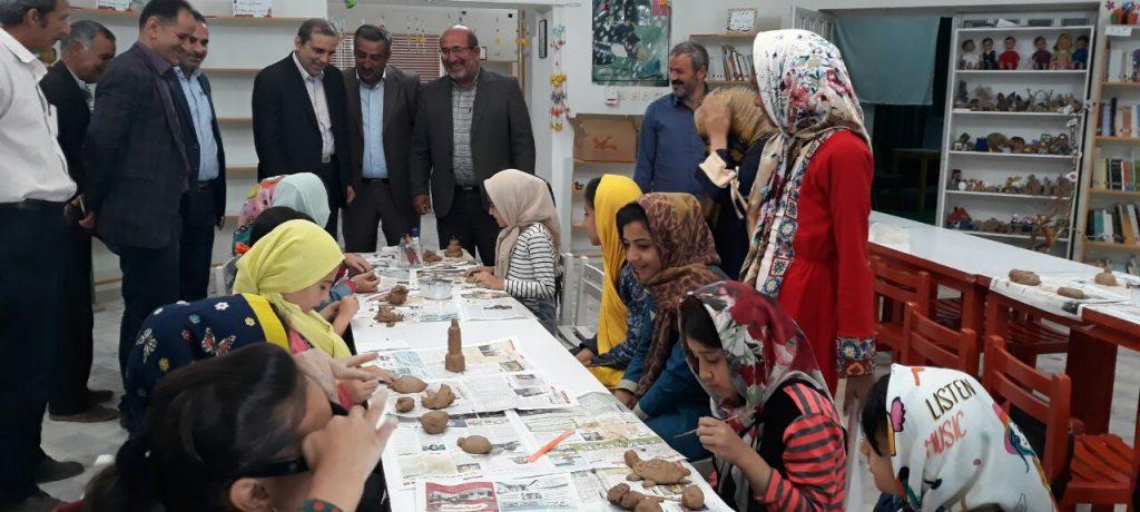 بازدید دکتر یوسف نژاد از کانون پرورش فکری کودکان ونوجوانان کیاسر