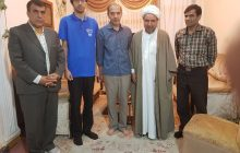 حضور رییس اداره آموزش و پرورش چهاردانگه در منزل محمد شریفی کیاسری