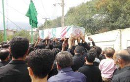 گزارش تصویری تشییع پیکر مطهر شهید گمنام دفاع مقدس در بخش چهاردانگه