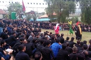 مراسم تعزیهخوانی در روستای خالخیل چهاردانگه برگزار شد +تصاویر