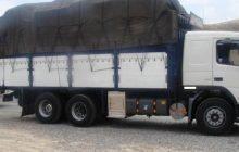 توقف کامیون برنج خارجی با 15 تن بار در تلمادره