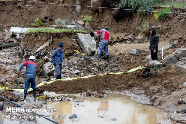 خسارات سیل مازندران