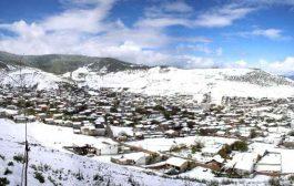 تصاویر: بارش برف بهاری در کیاسر