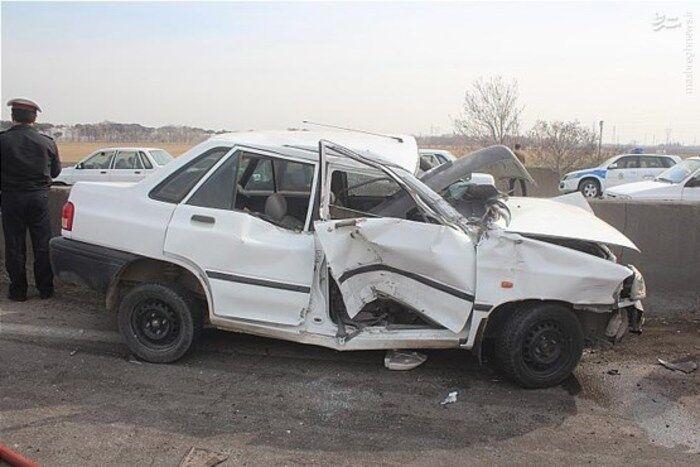 تصادف در جاده هراز یک کشته و هفت زخمی بر جای گذاشت