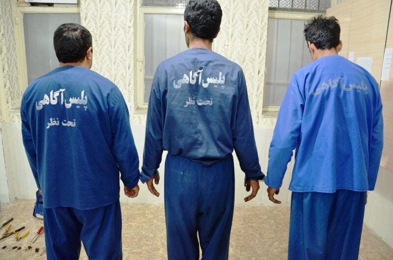 دستگیری سه سارق حرفه ای خودرو در نور