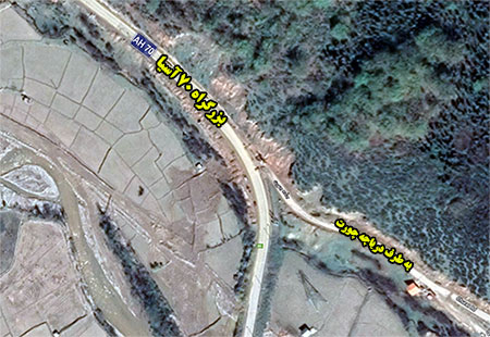 وضعیت تاسف بار محور کیاسر که بخشی از بزرگراه بین المللی 70 آسیا است
