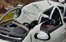 سقوط تخته سنگ در جاده کندوان سبب مرگ یک نفر شد