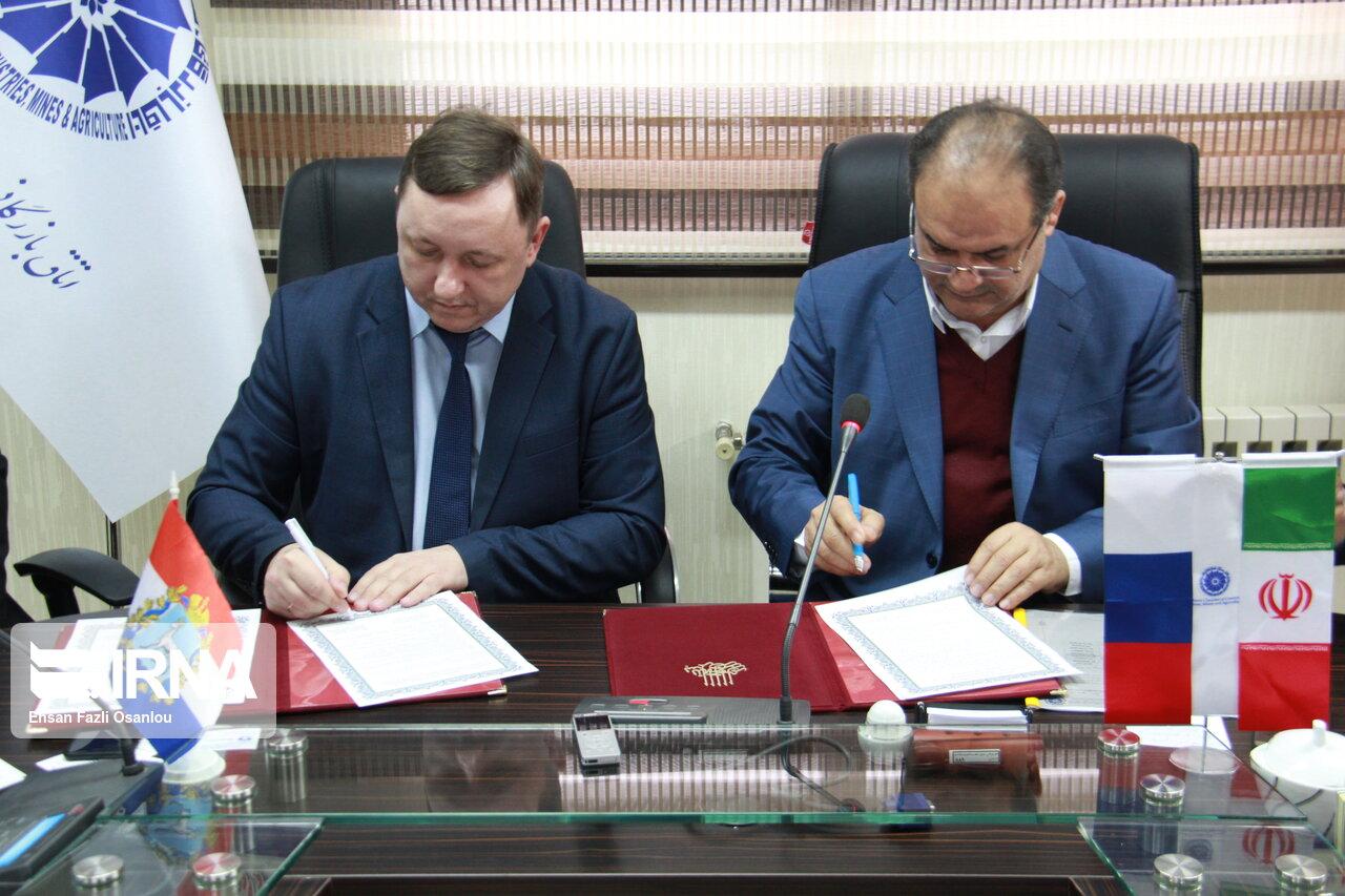 مازندران و سارامای روسیه تفاهمنامه روابط تجاری امضا کردند