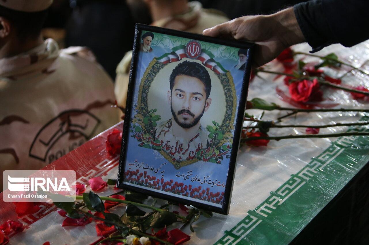 وداع با پیکر شهید سید محسن طاهری ششکی در ساری
