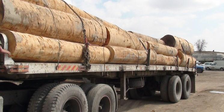کشف 40 تن چوب آلات جنگلی در چهاردانگه