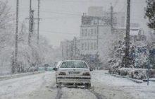 محور کیاسر- سمنان به علت بارش برف و بوران مسدود است