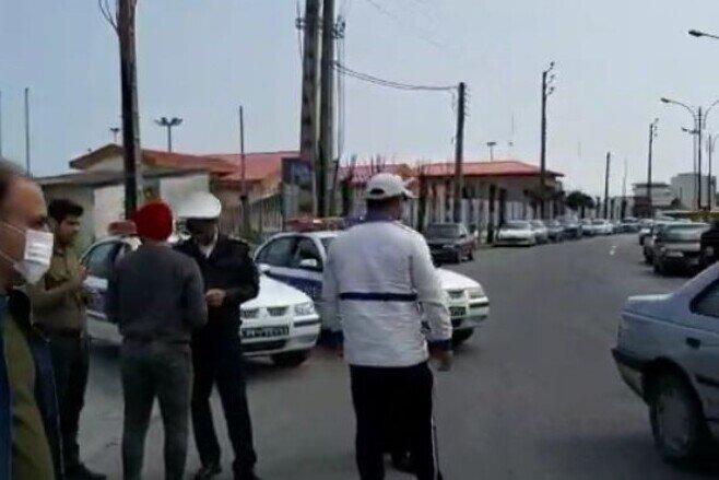 اجرای طرح فاصله گذاری اجتماعی در نوشهر