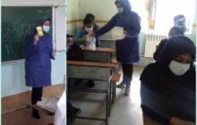 تصاویر: آموزش پیشگیری از ابتلا به ویروس کرونا در روستای کردمیر