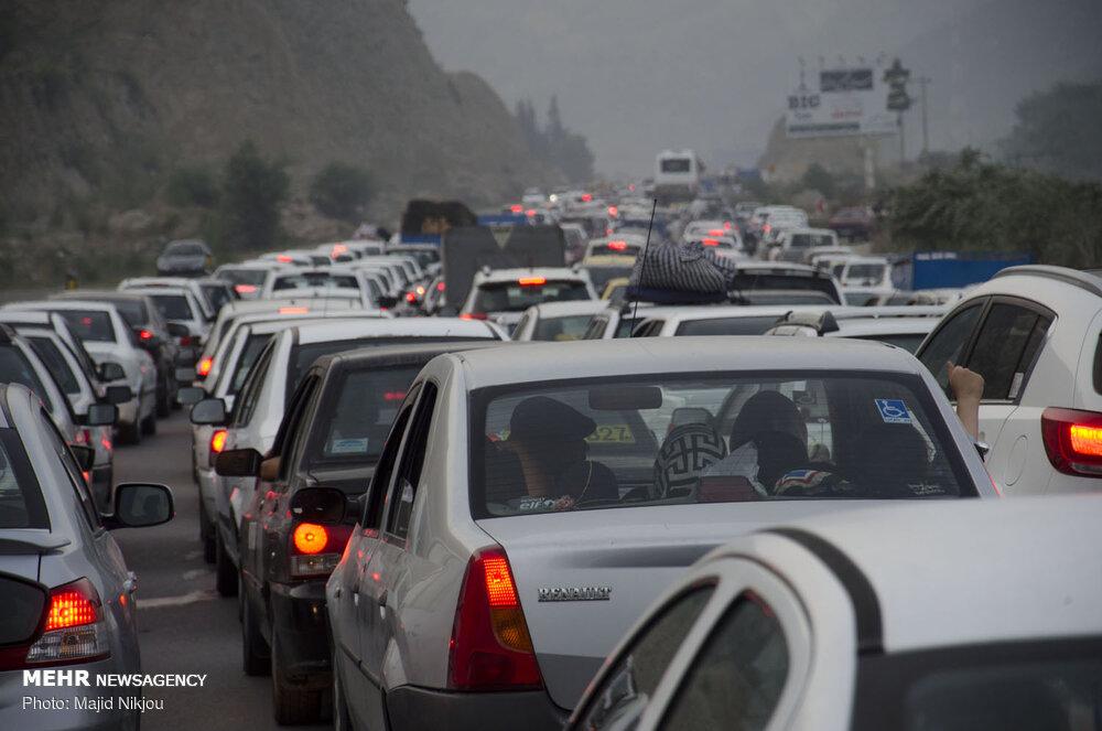 ترافیک سنگین در تمامی محورهای شمالی/لغو محدودیت تردد در محور هراز