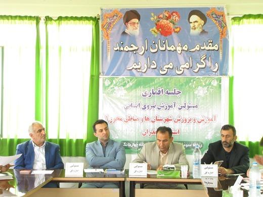 جلسه  مسئولین آموزش نیروی انسانی شهرستان ها و مناطق محور۱ استان در چهاردانگه