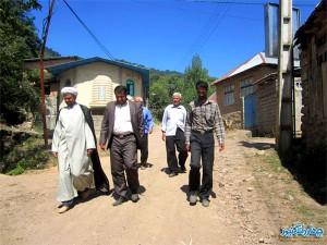 گزارش تصویری از بازدید بخشدار چهاردانگه از روستای مزده