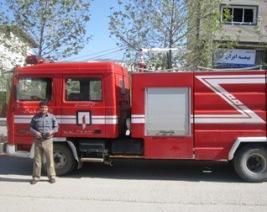 ماشین آتش نشانی کیاسر بیمه نیست!