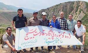 بازديد كوهنوردان  شرکت برق منطقه ای سمنان از چشمه سورت