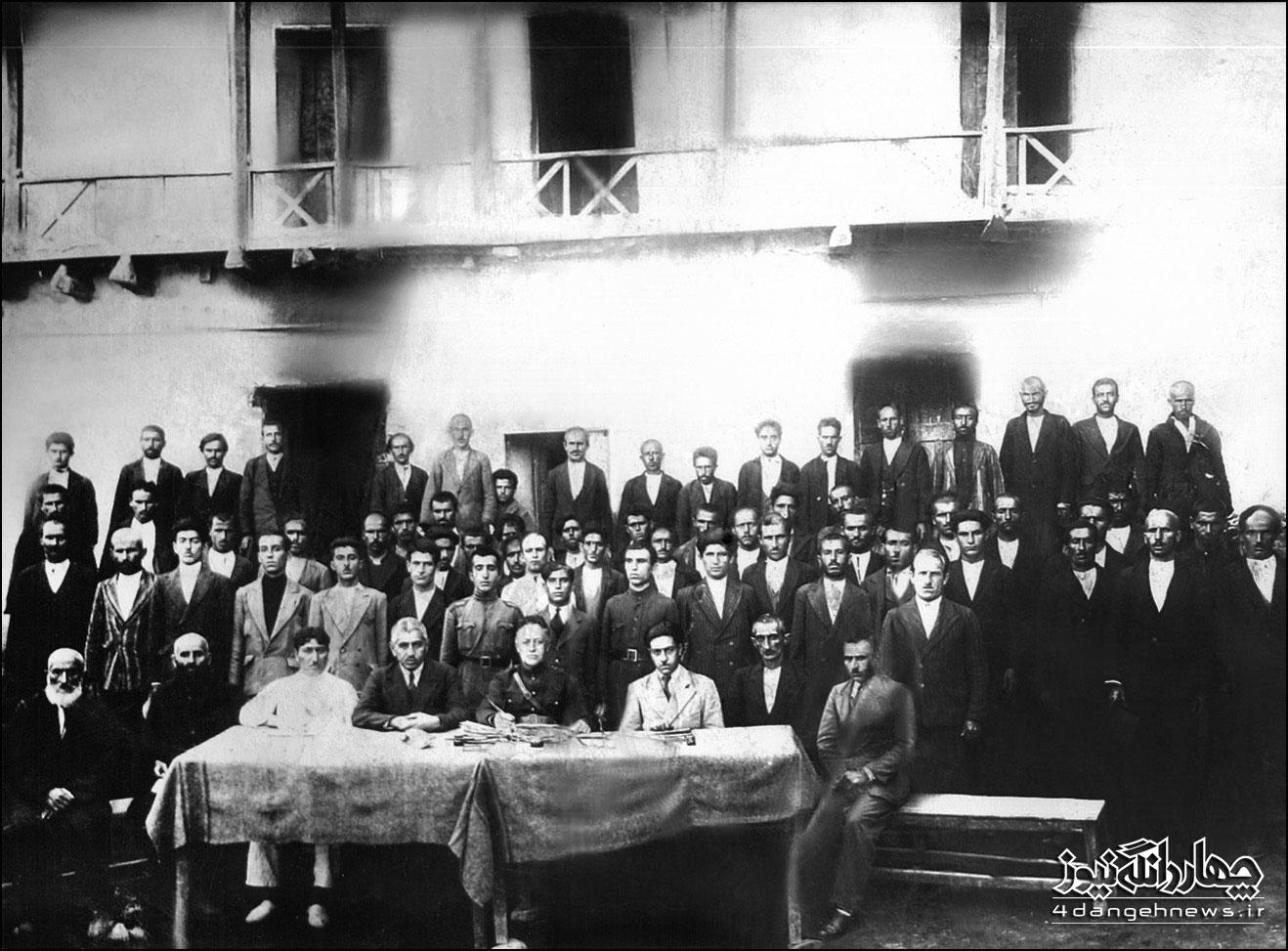باز نشر عکس تاریخی بزرگان چهاردانگه با توضیحات جدید