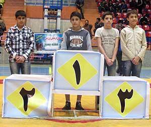 كسب مقام دو نونهال كياسري در مسابقات كشتي جام شهداي ساري